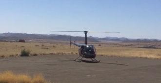 Helicopter landing strip, Tzamenskomst, Colesberg
