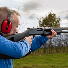 Shooting at target