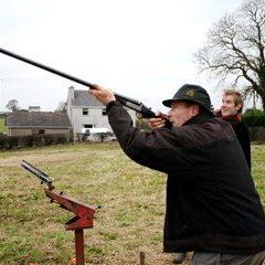 Clay pigeon shooting near Colesberg